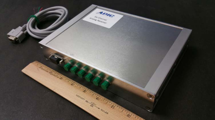 APIC Corporation's custom designed 6-Channel 20 GHz Analog Receiver